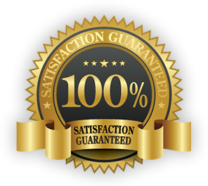 We offer a 100% satisfaction guarantee for your convenience and peace of mind